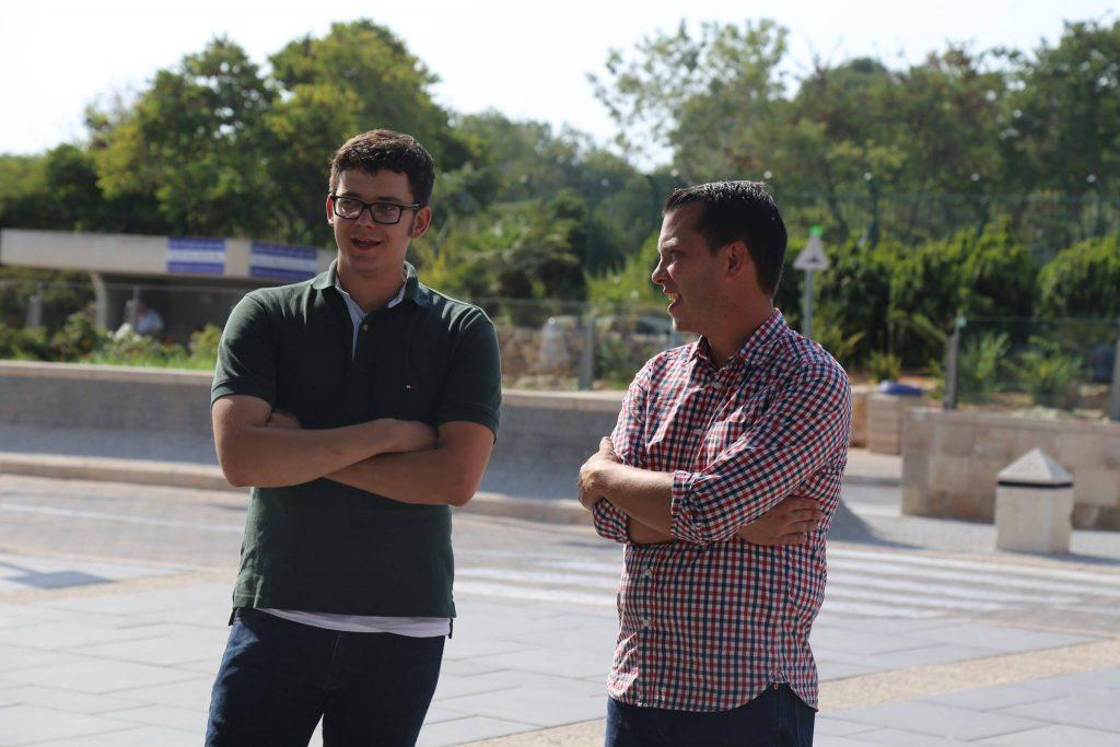 Grant with Passages Executive Director, Scott Phillips, in Israel