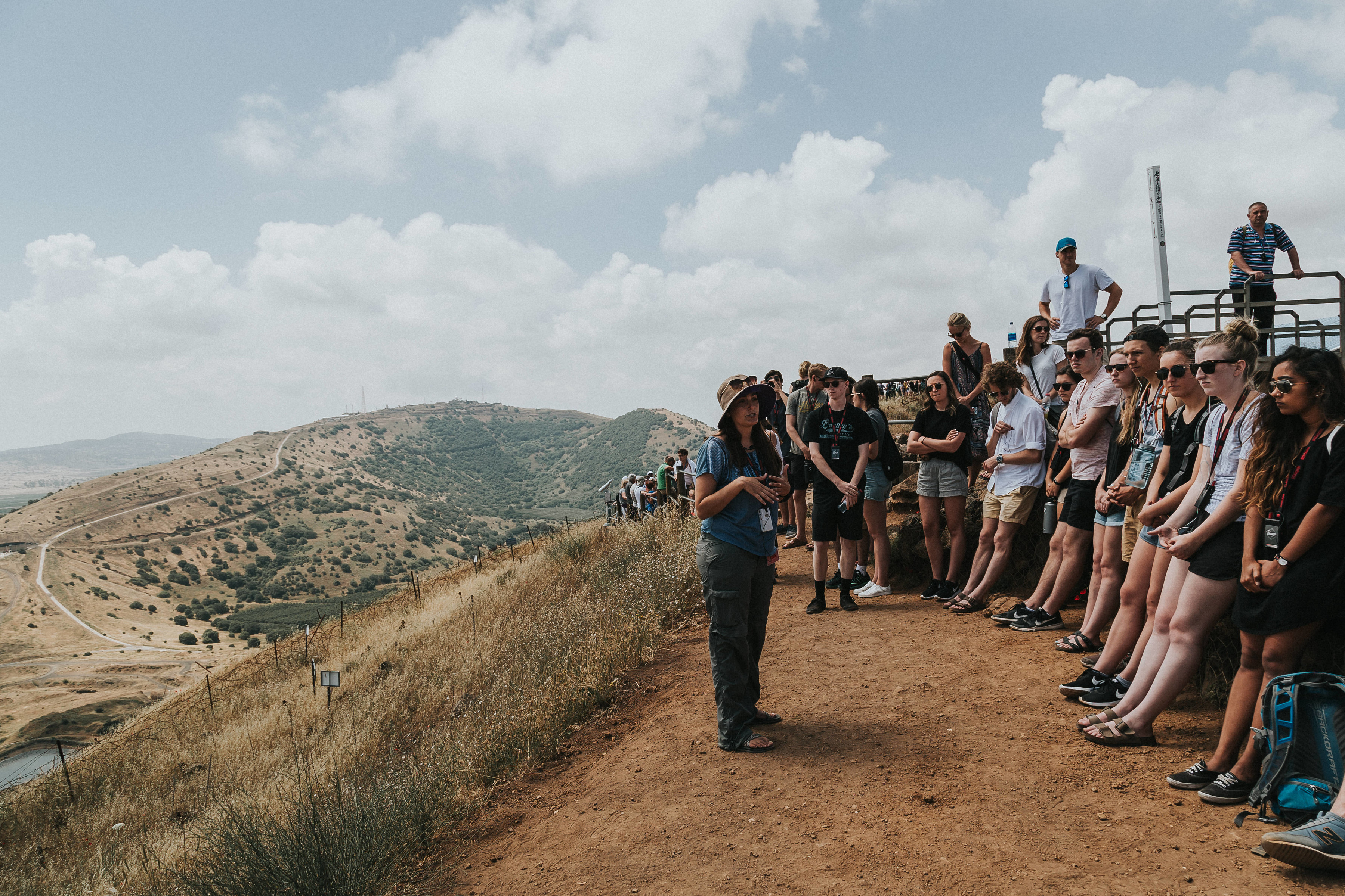 Looking out over the border of Syria and Israel, trying to understand the complexities of such borders, both here and along other points in Israel.