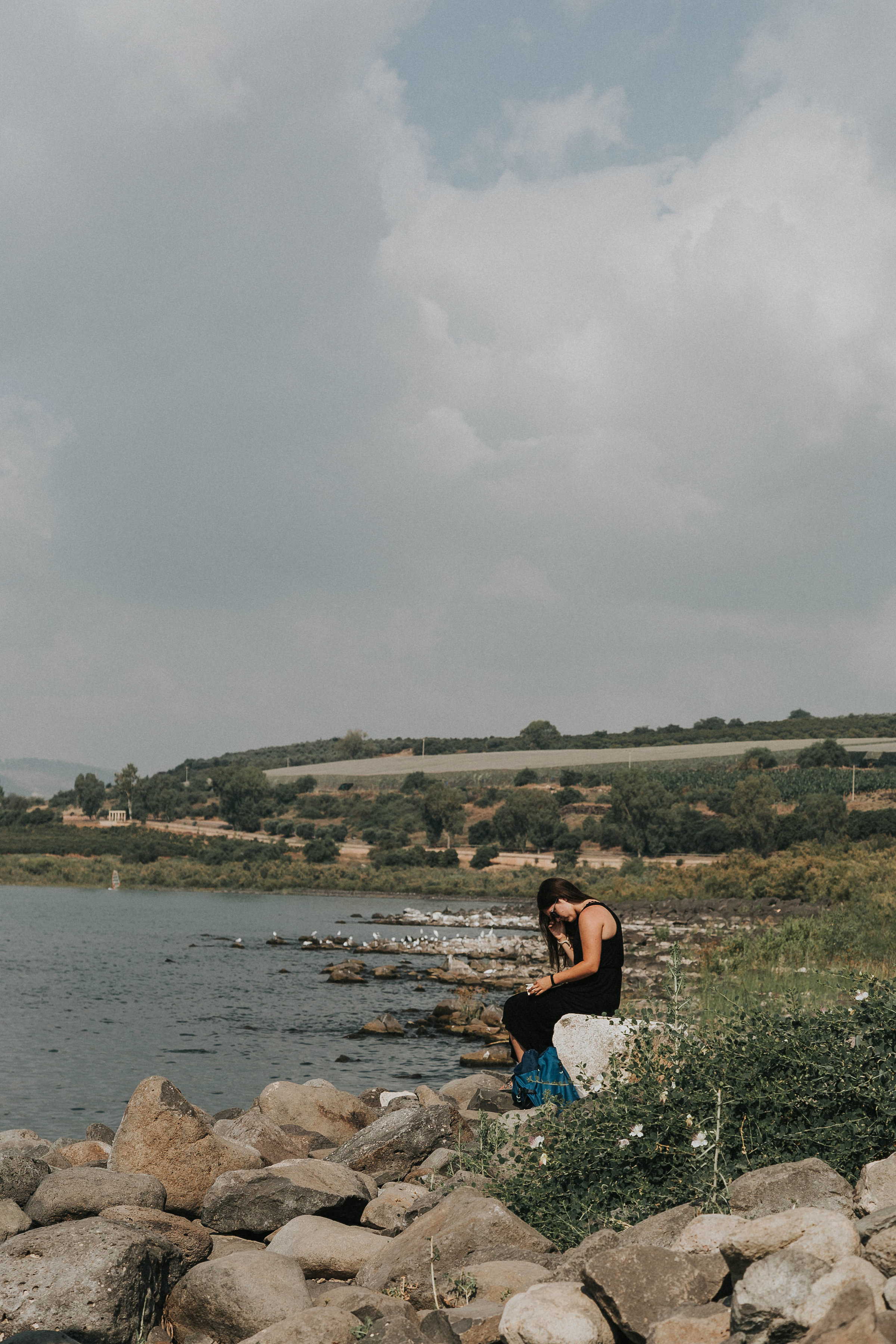 Quiet time on the Sea of Galilee, a cherished time.